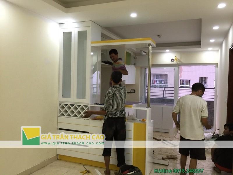 Hoàn thiện thi công trần thạch cao cho nhà anh Bát ở Nam Đô 09