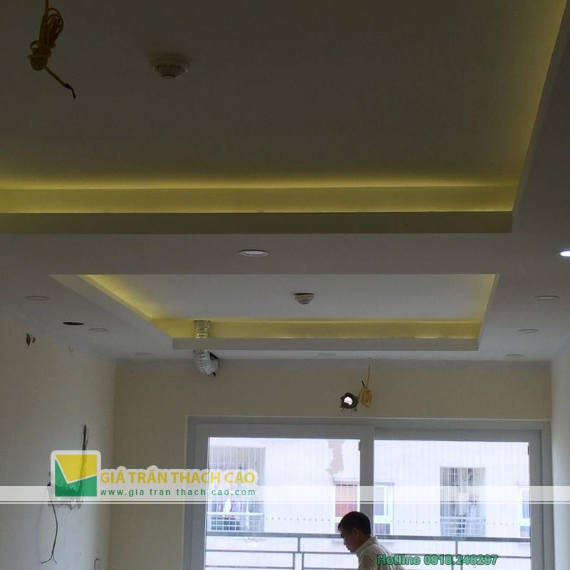 Hoàn thiện thi công trần thạch cao cho nhà anh Bát ở Nam Đô 012