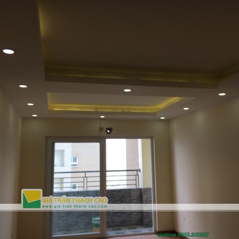 Hoàn thiện thi công trần thạch cao cho nhà anh Bát ở Nam Đô 015