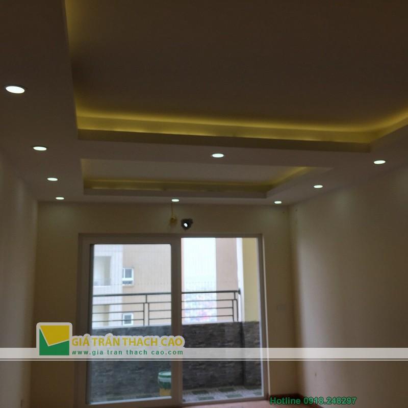 Hoàn thiện thi công trần thạch cao cho nhà anh Bát ở Nam Đô 016