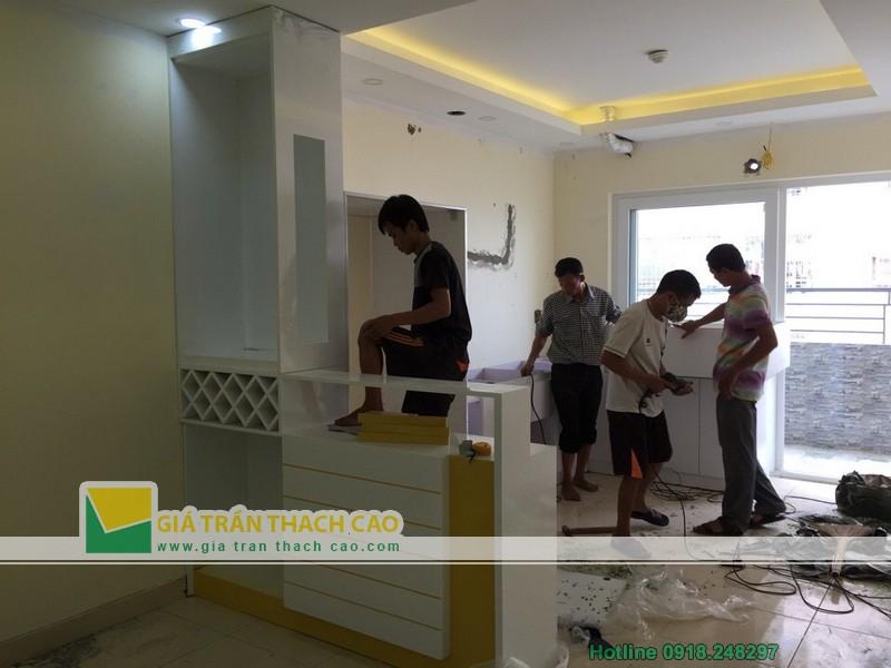 Hoàn thiện thi công trần thạch cao cho nhà anh Bát ở Nam Đô 017