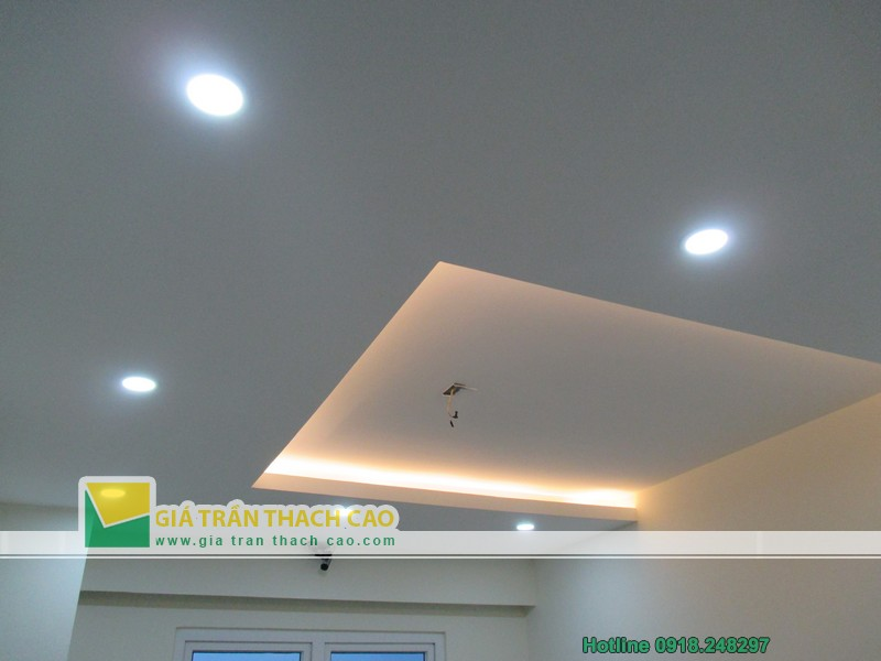 Hoàn thiện trần thạch cao giật cấp cho nhà anh Quang ở Dương Nội 08